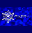 Merry christmas blue background with silver vector