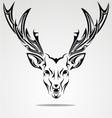 Artistic deer head vector