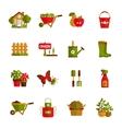 Gardening icons set vector