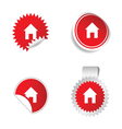 House red sticker vector