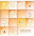 Flat vine infographic design vector
