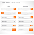 Search bar template vector