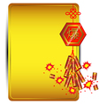 Firecracker on golden background chinese new year vector
