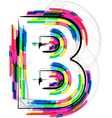Colorful font letter b vector
