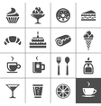Cafe and confectionery icons vector