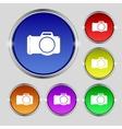 Photo camera sign icon digital symbol set vector