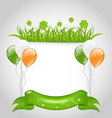 Cute nature background for st patricks day vector