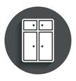 Cupboard sign icon modern furniture symbol vector