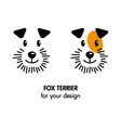 Fox terrier dog icon vector