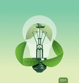Light save the plant concept vector
