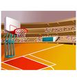 Basketball court stadium vector