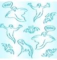 Hand drawn halloween seamless pattern vector