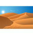 Desert dunes vector