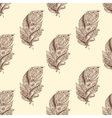 Vintage seamless pattern with original hand drawn vector