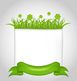 Cute nature card for st patricks day vector