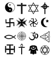 Religion icons set vector