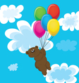 Bear balloons vector