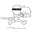 Thief carrying house vector