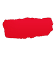 Red paper hole vector