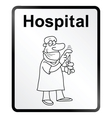 Hospital information sign vector