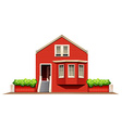 A big wooden house vector