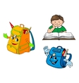 Set of colorful school education icons vector