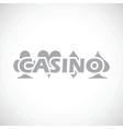 Casino black icon vector