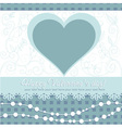 Cute valentines day heart floral invitation postca vector