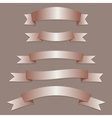 Bronze ribbons flags vector