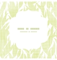 Green leaves textile texture white frame seamless vector
