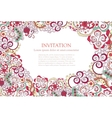 Floral ornament invitation background vector