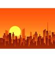 Big city bright sunrise vector