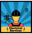 Electricity icon poster vector