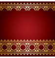 Red and gold background with vintage border vector