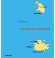 Antigua and barbuda - map vector
