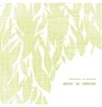 Green leaves textile texture frame corner pattern vector
