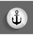 Sea glossy icon vector