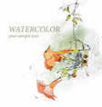 Floral background in watercolor style vector