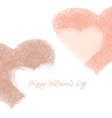 Hand drawn hearts background vector