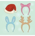 Merry christmas carnival cartoon set vector