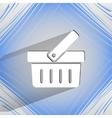 Shopping basket flat modern web design on a flat vector