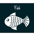 Fish icon design vector