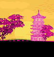 Abstract chinese landscape vector