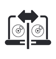 Cd copy icon vector