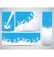 Milk splashes set vector
