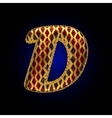 Golden and red letter d vector