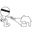 Thief flashing vector