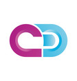 Cd letter logo template free vector