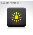Sun summer icon gold vector