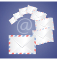 White detailed envelopes vector